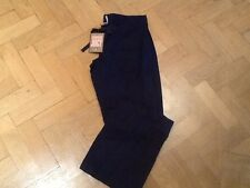 NWT Juicy Couture New & Gen. Ladies Small Blue Wide Leg Linen Trousers UK 8/10