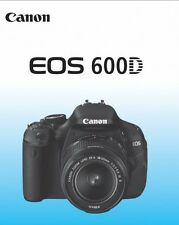 CANON EOS 600D 600 D French Instruction Manual Française Mode D'Emploi