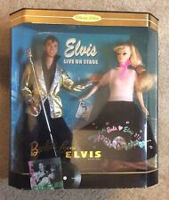 New In Box Mattel BARBIE DOLL LOVES ELVIS GIFT SET Collector Edition 1996