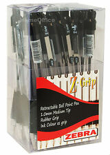 30 x  Quality Zebra Z-Grip Retractable Ball Point Pens Black Ink  1.0mm Tip