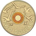 2015 Australia Rememberance Day Orange $2 Uncirculated Coin