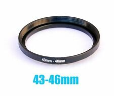 43mm-46mm 43mm to 46mm Metal Step Up Lens Filter Ring Adapter US Shipping