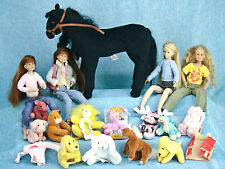 Only Hearts Club 4 Doll Clothing 12 Mini Plush Pet Lot Black Horse Pony Unicorn