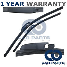 "FOR MERCEDES C CLASS W203 2003-2007 DIRECT FIT FRONT AERO WIPER BLADES 22"" + 22"""