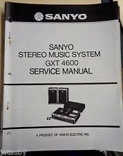 SANYO Vintage Original Stereo Music System GXT 4600 Service Manual