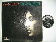 "12"" VINYL LP. Joan Baez in Concert. 1962. Fontana. TFL.6033. Fair/Very Good Cond"