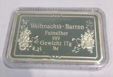 Weihnachten Barren 17g Feinsilber 999 B130