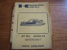 Kawasaki Jet Ski JS400-A3 Water Craft Parts Catalogue