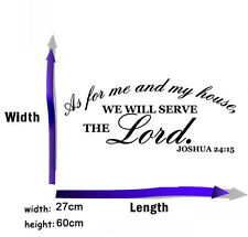 As For Me and My House Joshua 24:15 Vinyl Decal Wall Quote Inspiration Stickers