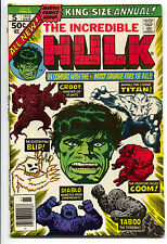 Incredible Hulk Annual 5 Marvel 1976 VF NM 2nd Groot Guardians Of The Galaxy