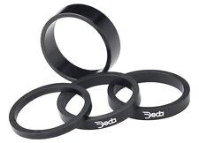 "Deda Headset Spacers black w/ white logo 1 1/8"" x 5mm (4-pack)"