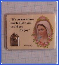 PC_EN105 Medjugorje Prayer Medal Card - English (set of 5 pieces)