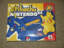 Pikachu Nintendo 64 Video Game System Console NEW #86 Blue/Yellow Pokemon