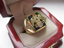 Superb NEW! Gents 33 Degree Crown Masons CREST Ring *