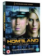 HOMELAND SERIES ONE 1 DAMIAN LEWIS CLAIRE DANES 4 DISC BOXSET UK REGN 2 DVD EXCL