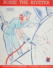 Rosie the Riveter Vintage Sheet Music Cover Hand Pulled Fine Art Lithograph S2