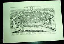 Wien Vienna: alte Ansicht Merian Stich Druck 1650