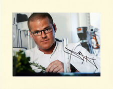 HESTON BLUMENTHAL TV CELEBRITY CHEF PP 8x10 MOUNTED SIGNED AUTOGRAPH PHOTO