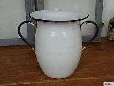 Nr.K4097  Emaille Kanne -  Shabby Chic - EMAIL - Vase - RAR