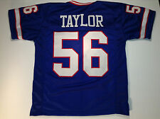 New York Giants Lawrence Taylor UNSIGNED CUSTOM Blue Jersey - Medium