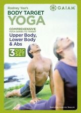 BODY TARGET YOGA (DVD SET) Rodney Yee abs upper lower for beginners workouts NEW