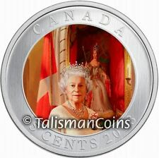 Canada 2013 Queen Elizabeth II Coronation 60th Portrait Color Quarter 25 Cents