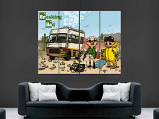 Breaking bad série tv dessin animé mur géant poster art photo imprimé grand énorme