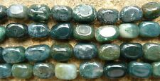 Moss Agate beads Chunky freeform 33-count