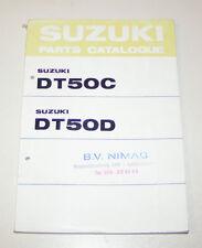 Ersatzteilkatalog / Parts Catalogue Suzuki DT 50 C / DT 50 D - Edition 1977!