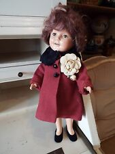 "VINTAGE IDEAL 13"" COMPOSITION SHIRLEY TEMPLE DOLL WITH OPEN MOUTH NR"