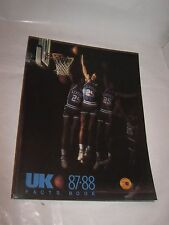 1987-88 University of Kentucky Wildcats Basketball ~ Facts Book ~ Media Guide