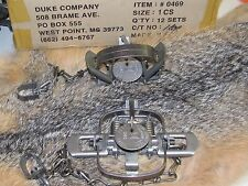 2 Duke #1 Coil Spring Traps Raccoon Mink Nutria Muskrat  Trapping 0469