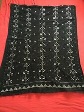 Limited time offer HANDMADE real SILVER THREAD embroidered TALLY Egyptian shawl
