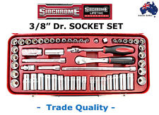 "SIDCHROME 3/8"" DR SOCKET SET METRIC + AF TRADE QUALITY CHROME VANDIUM SPECIAL"