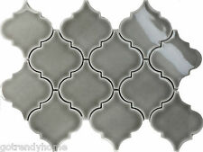 11.5SF Gray Porcelain Moroccan Pattern Mosaic Tile Kitchen Backsplash Spa Pool