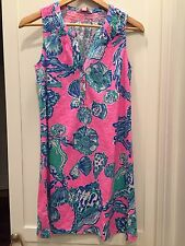 NWT Lilly Pulitzer Essie Dress Pink Pout Barefoot Princess XS