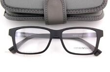 Brand New EMPORIO ARMANI Eyeglass Frames 3018 5042 Black/Grey for Men