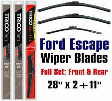 2013-2017 Ford Escape Wiper Blades 3pk Front + Rear Wipers - 19280x2/11G