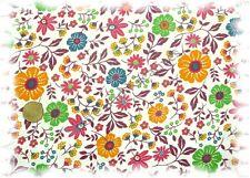 Isalie  Feincord Blumen wollweiß, dunkelrot 50 cm Meterware Cord
