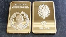 1 oz bar  KAISER WILHELM II COMMEMORATIVE BAR + CASE GOLD  German Emperor King