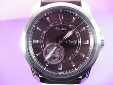 BULOVA 96A101 AUTOMATIC MEN'S WATCH 21 JEWELS CASUAL STAINLESS STEEL CASE ANALOG