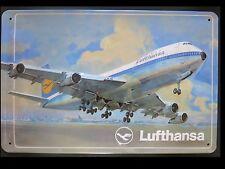 LUFTHANSA, PANNEAU MÉTALLIQUE, Avion, BOING 747
