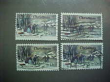 100 USED STAMPS SCOTT #1703 13c Winter Pastime by Nathaniel Currier / type 2