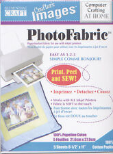 Photo Fabric Cotton Poplin - 5 Sheet Pack - Create Permanent Images on Fabric