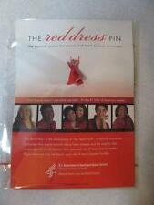 "THE RED DRESS PIN Women's Heart Disease Awareness 1"" National Symbol NEW"