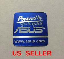 New Powered by Asus Logo Sticker For PC Case Badge    20 X 20mm