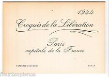 8 Croquis de la Libération 1944 Jack Moisy  reproductions