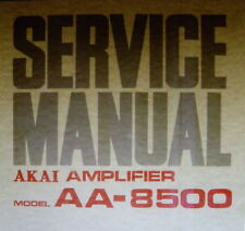 Akai AA-8500 solid state am fm mpx st tuner service amp manuel imprimé anglais