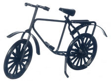 Small Childs Black Bicycle, Dolls House Miniature, Miniatures, Bike,