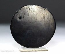 Scarce Pre Columbian Chavin Indian Anthracite Mirror Light Reflector Artifact